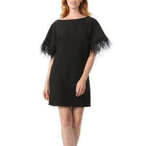 JAY X JAYGODFREY Budden Feather Trim Dress